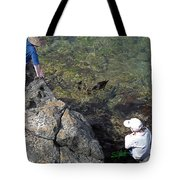 Watching The Chicks Tote Bag