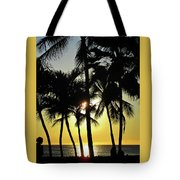 Watching The Hawaiian Sunset  Tote Bag