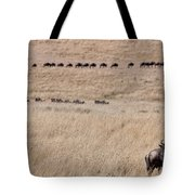 Watching The Herd Tote Bag