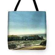 Watching The Rocks And Waves Tote Bag