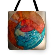 Watching The Waves From Heaven Tote Bag