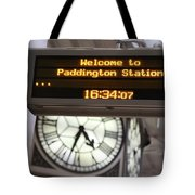Watching Time At The Station Tote Bag