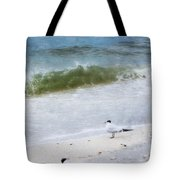 Watching Waves Crest And Break Tote Bag