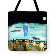 Watching Whales Tote Bag