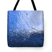 Water Abstraction - Blue Reflection Tote Bag