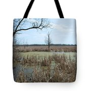 Water And Cattails Tote Bag