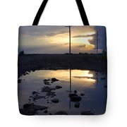 Water And Electricity Tote Bag