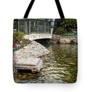 Water And Flower Tote Bag