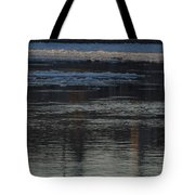 Water And The Ice - Icy River Danube Tote Bag