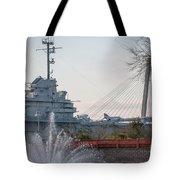 Water And Metal Tote Bag