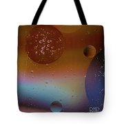 Water And Oil Collide  Tote Bag