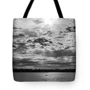 Water And Sky - Bw Tote Bag