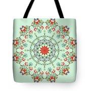 Water Color Garden Kaleidoscope Tote Bag