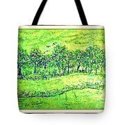 Water Color Of Apple Orchard Farm Tote Bag
