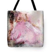 Water Colour Ballerina Tote Bag