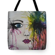 Water Colour - Face Tote Bag