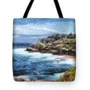Water Cove With Rocky Cliffs Tote Bag