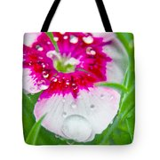 Water Diamond On White Tote Bag