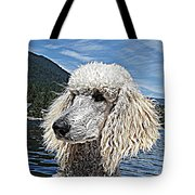 Water Dog Tote Bag