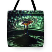 Water Drop Collision Tote Bag