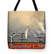 Water Drop On The Station Fire Tote Bag