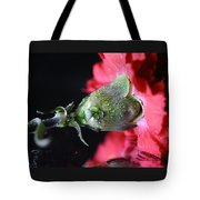 Water Drops On Carnation Tote Bag