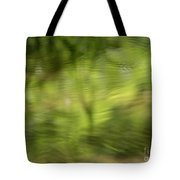 Water Drops On Reflected Pond Tote Bag