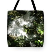 Water Fall In The Woods Tote Bag