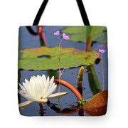 Water Flowers Tote Bag