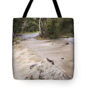 Water Flowing In The North Fork Tote Bag