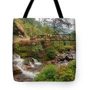 Water Flowing Through Rocks Kukhola Falls Sikkim Tote Bag