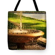 Water Fountain Garden Tote Bag