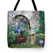 Water Fountain Tote Bag by Milagros Palmieri