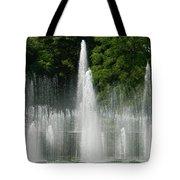 Water Fountain Show - Longwood Gardens In Pa Tote Bag
