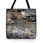 Water Going To The Falls Tote Bag