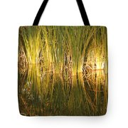 Water Grass In Sunset Tote Bag