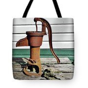 Water Hand Pump Tote Bag