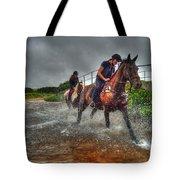 Water Horses Tote Bag
