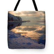 Water Ice Light And Highway 97 Tote Bag