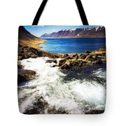 Water In Iceland - Beautiful West Fjords Tote Bag