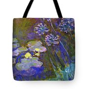 Water Lilies And Agapanthus 1917 Tote Bag
