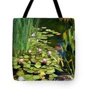 Water Lilies And Koi Pond Tote Bag