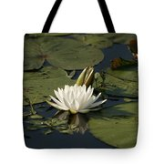 Water Lilies And Pads Tote Bag