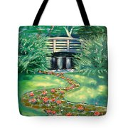 Water Lilies Bridge Tote Bag