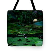 Water Lilies In The Pond Tote Bag
