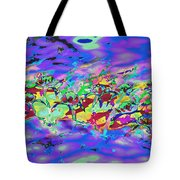 water lilies In twilight Tote Bag