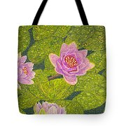 Water Lilies Lily Flowers Lotuses Fine Art Prints Contemporary Modern Art Garden Nature Botanical Tote Bag