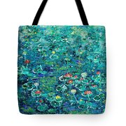 Water Lilies Lily Pad Lotus Water Lily Paintings Tote Bag