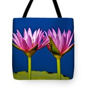 Water Lilies Touching Tote Bag
