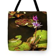 Water Lillies At Central Park Tote Bag